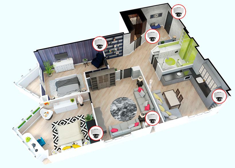 Пример установки IP системы видеонаблюдения в квартире.